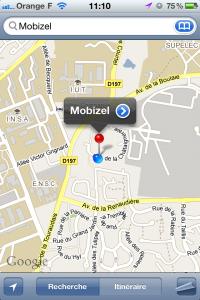 Géolocalisation Mobizel