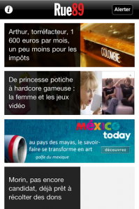 bannière publicitaire application iphone