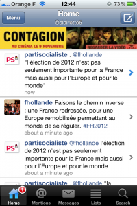 publicité mobile application iPhone
