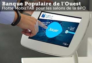 MobizTAB tablette animation salon Banque Populaire de l'Ouest