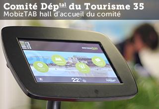 MobizTAB tablette accueil numérique comité départemental du tourisme