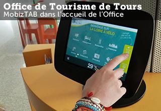 Application tablette MobizTAB accueil numérique office du tourisme de Tours