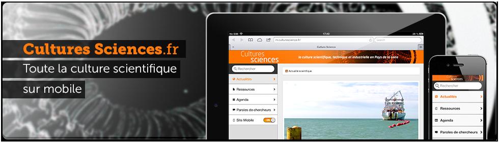 Cultures sciences site mobile