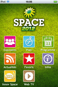 home application iPhone SPACE 2012