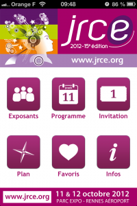 Écran Home application iPhone JRCE 2012