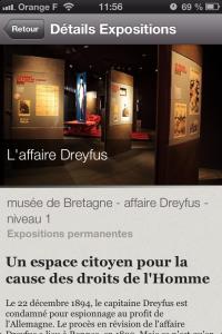 details_expo application iPhone Les Champs Libres