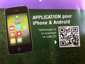 qrcode application iphone space 2012