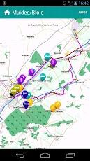carte des points d'intérets Loire à vélo