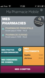 home application iPhone Ma Pharmacie Mobile