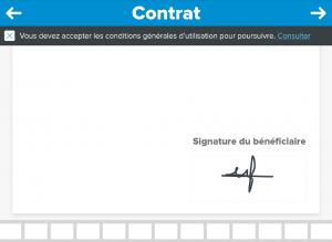 application tablette signature contrat