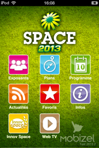 Home application iPhone SPACE 2013