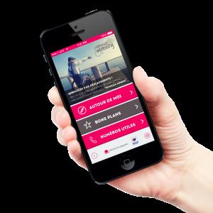 page d'accueil de l'application mobile hérault tourisme