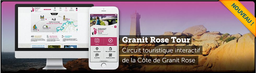 Application mobile et site web Granit Rose