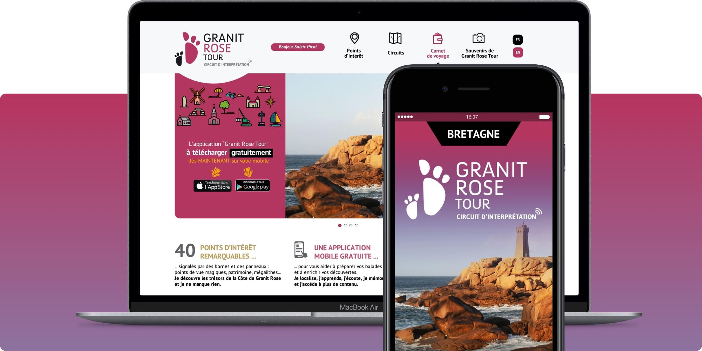 Application Granit Rose