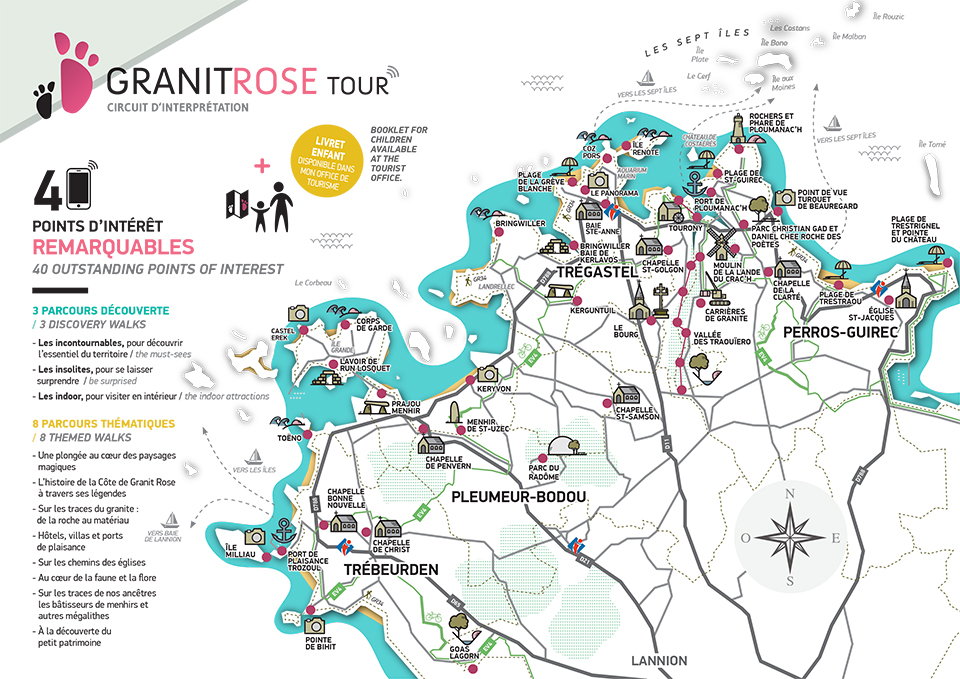 carte Granit Rose Tour