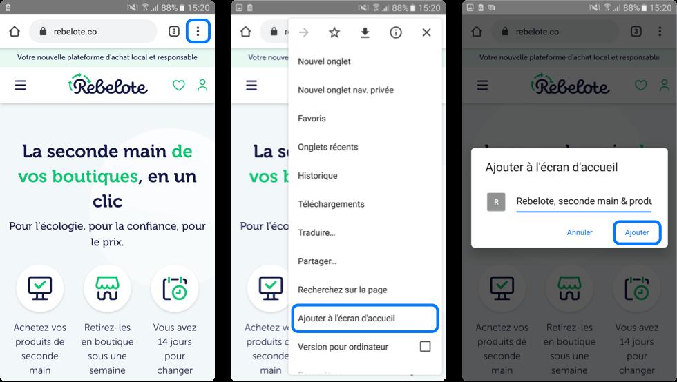 Tuto Comment ajouter une icône sur l'écran d'accueil Android