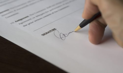 Signature - Accord de confidentialité