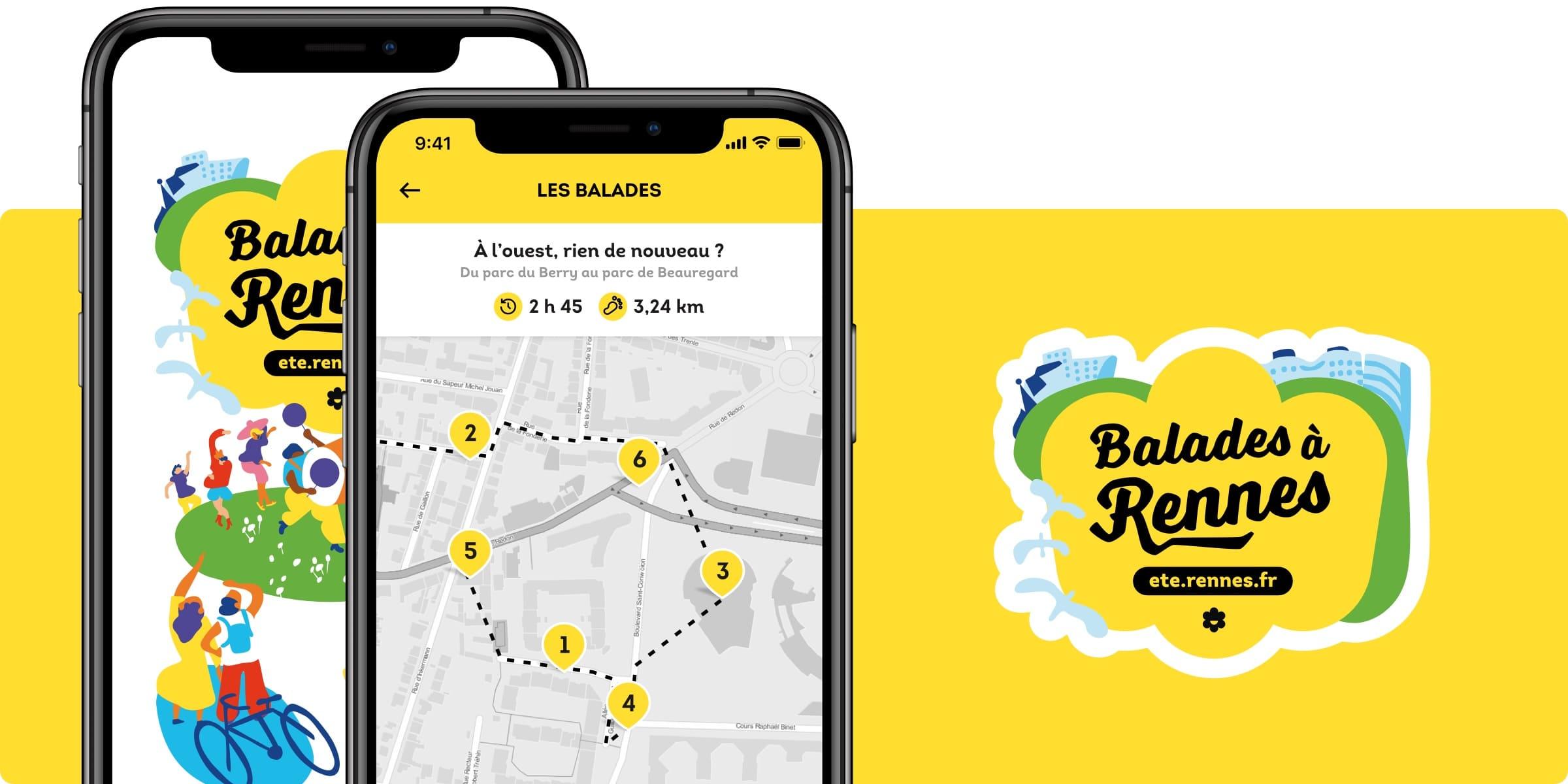 Application Balades à Rennes
