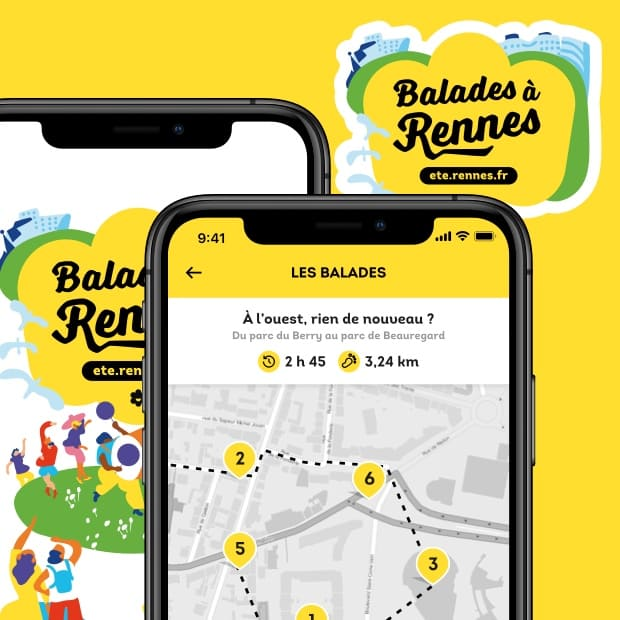 Application Balades à Rennes