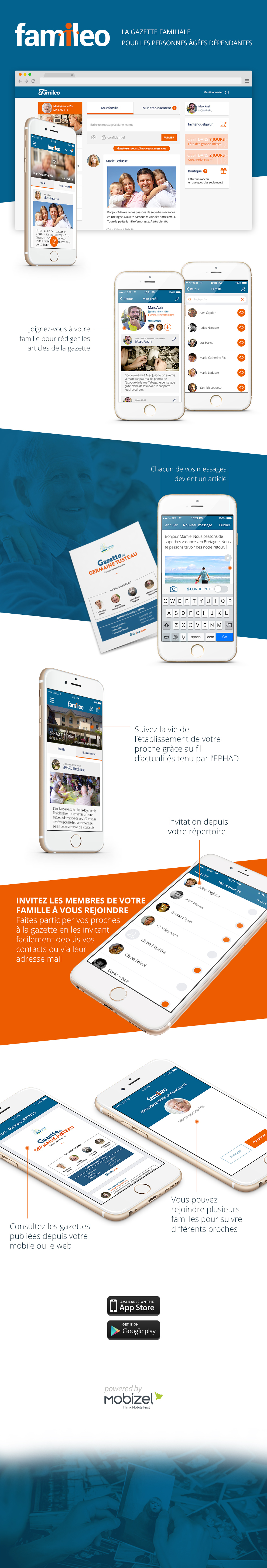 Infographie application Famileo