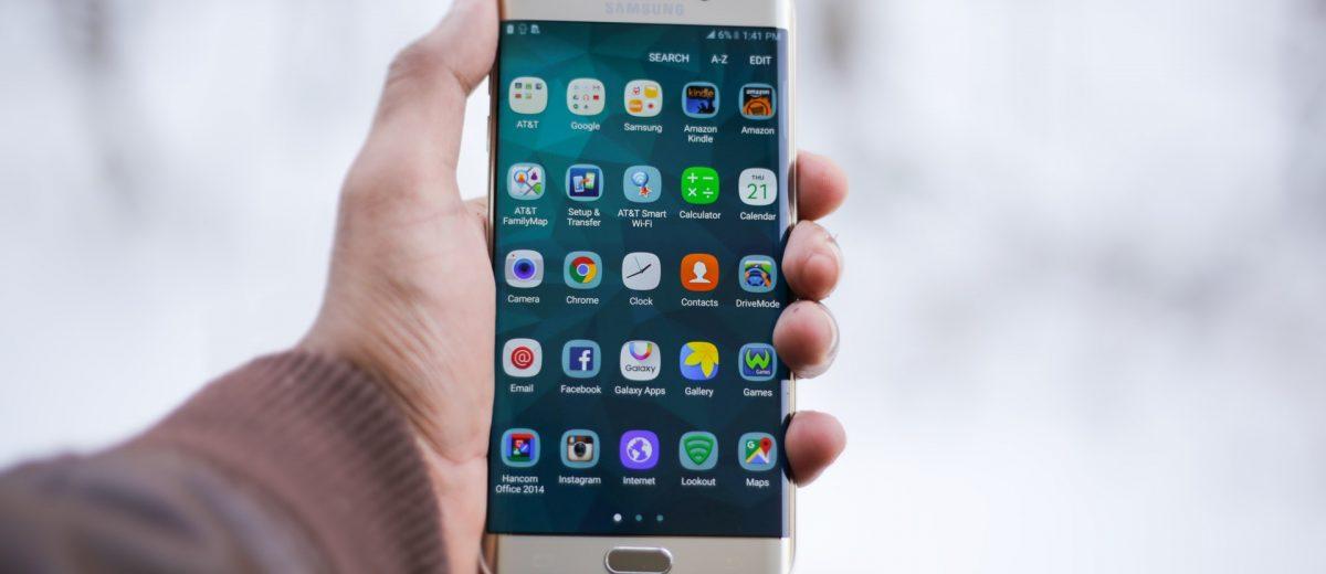 Smartphone avec application