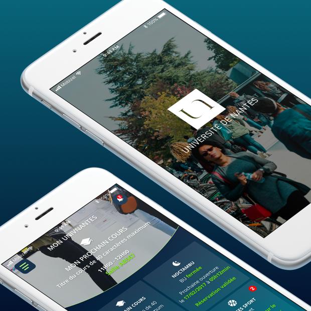 App de l'université de Nantes - iOS et Android