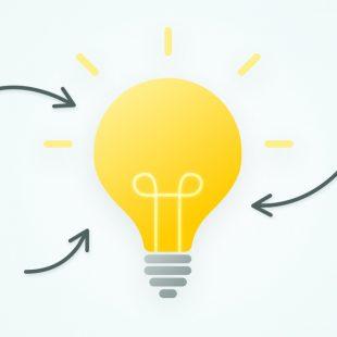 illustration ampoule jaunes avec des flèches