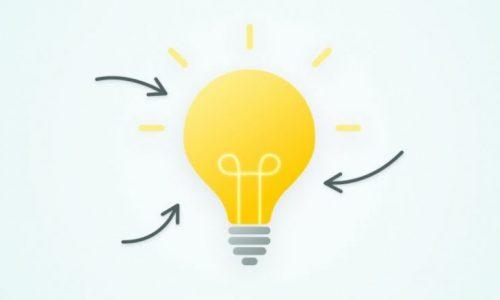 illustration ampoule jaune avec des flèches