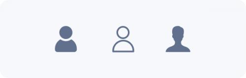 Exemple de style graphique d'un icone profil