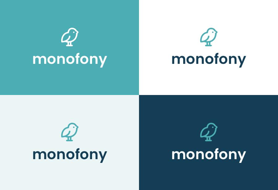 Déclinaisons des couleurs de Monofony
