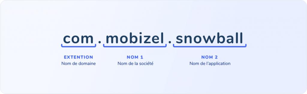 Exemple de nom de package pour une application mobile.
